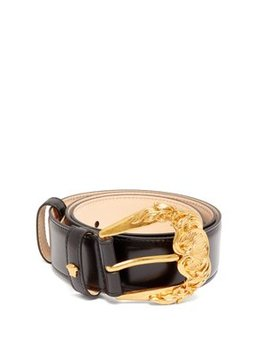Barocco Medium Leather Belt by Versace