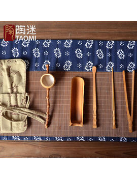 Chinese Bamboo Tools For Tea Service Cha Dao Tea Accessories Portable Bag by Onwill