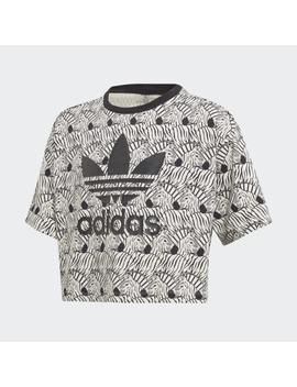 Zebra Crop Tee by Adidas