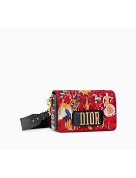 Dio(R)Evolution Flap Bag In Embroidered Canvas by Dior