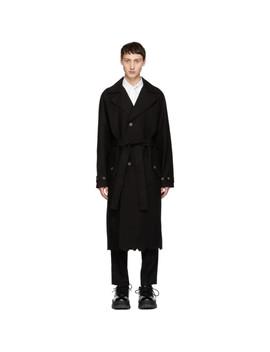 Black Cinder Trench Coat by Ader Error