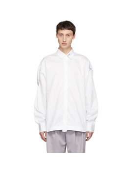 White Folded Classic Shirt by Ader Error