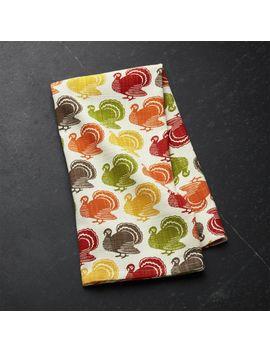 Turkey Trot Dish Towel by Crate&Barrel