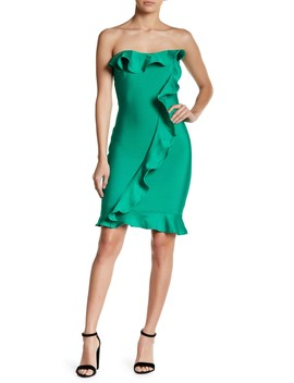 Strapless Ruffle Dress by Wow Couture