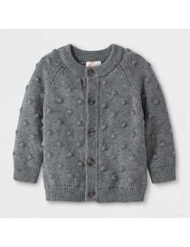 Baby Boys' Button Up Cardigan Sweater   Cat & Jack™ Gray by Cat & Jack™
