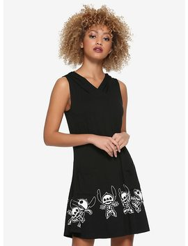Disney Lilo &Amp; Stitch Skeleton Hooded Dress by Hot Topic