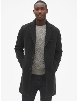 Wool Blend Topcoat by Gap