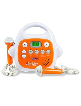 Kids Karaoke Machine Mp3 Music Player, With 2 Microphone, Built In Music Storage, Bluetooth/Mp3/Aux Connection by Kidzlane