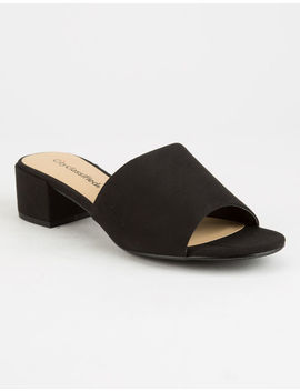 City Classified Watson Bloc Heel Womens Mules by City Classified