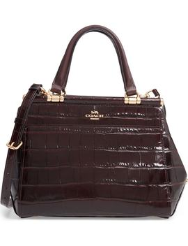 Grace Croc Embossed Satchel by Coach