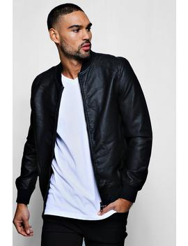 Pu Bomber Jacket by Boohoo