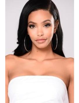 Devan Hoop Earrings   Silver by Fashion Nova