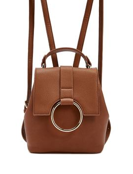 O Ring Faux Leather Backpack by Forever 21