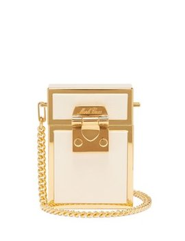 Nicole Leather And Gold Plated Cross Body Bag by Mark Cross