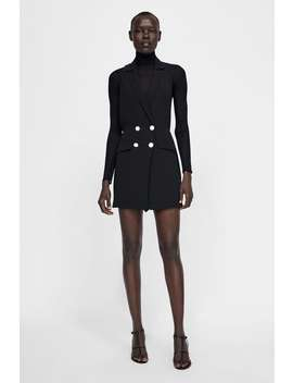 Buttoned Blazer Playsuit Dress  Blazerswoman by Zara