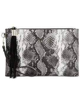 I.N.C. Molyy Snake Party Wristlet Clutch, Created For Macy's by Inc International Concepts