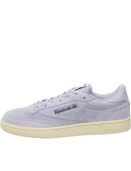 Reebok Classics Club C 85 Pastels Trainers Moon Violet/Paperwhite by Mand M Direct