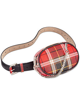 Chain Swag Plaid Fanny Pack by Steve Madden