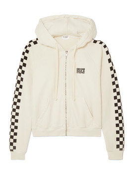 + Re/Done The Malibu Printed Cotton Terry Hoodie by Solid & Striped