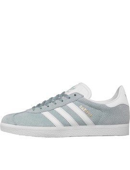 Adidas Originals Womens Gazelle Trainers Tactile Green/Footwear White/Gold Metallic by Mand M Direct