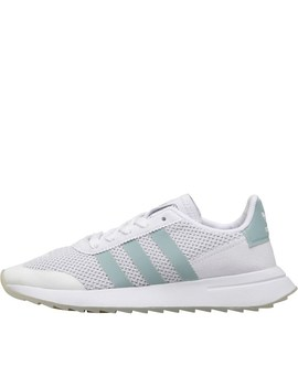 Adidas Originals Womens Flb Trainers White/Tactile Green/Clear Grey by Mand M Direct