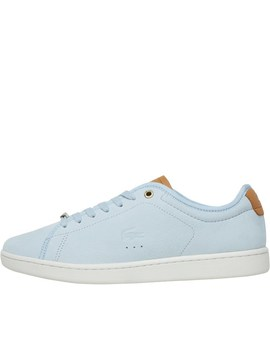 Lacoste Womens Carnaby Evo Spw Trainers Blue/Off White by Mand M Direct