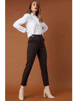 Straight Suit Pants Dark Brown by Na Kd