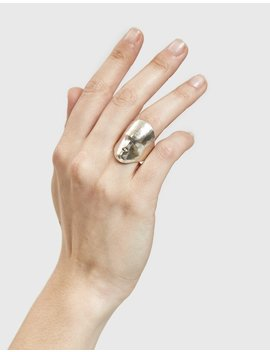 Silver Face Ring by Simon Miller