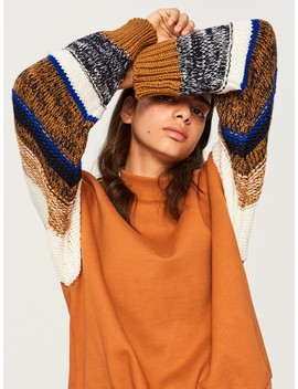 Sweatshirt With Decorative Sleeves by Reserved