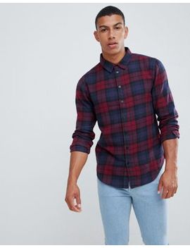 Another Influence Berry Check Shirt by Shirt