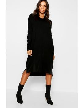 Round Neck Knitted Dress by Boohoo