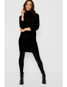 Longline Tunic With Roll Neck by Boohoo