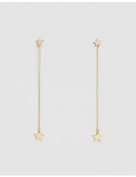 Star & Chain Drop Earrings by Orelia London