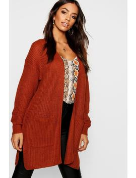 Chunky Edge To Edge Cardigan by Boohoo