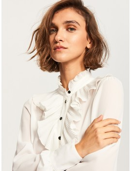 Decorative Ruffle Blouse by Reserved