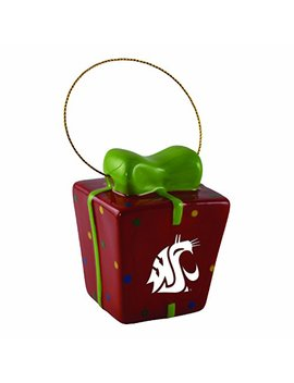 Washington State University 3 D Ceramic Gift Box Ornament by Lxg, Inc.
