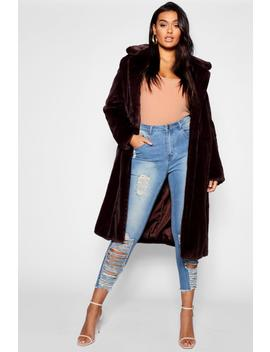 Plus Maxi Soft Faux Fur Coat by Boohoo