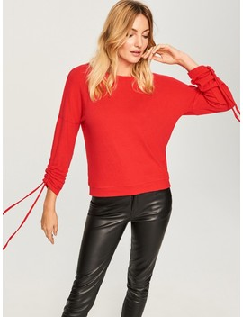 Drawstring Sleeve Jumper by Reserved