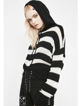 Rebelled Heart Striped Sweater by Skylar Madison