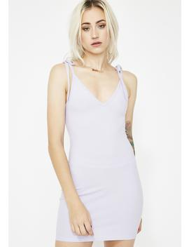 Lavender Don't Call Me Bodycon Dress by Makers Of Dreams