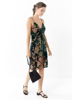 J.O.A. Floral Velvet Twist Front Dress by J.O.A.