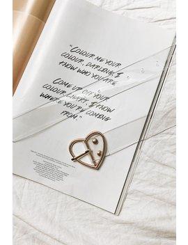 Editor Heart Clear Belt // Gold by Vergegirl