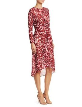 Twist Printed Dress by Maje