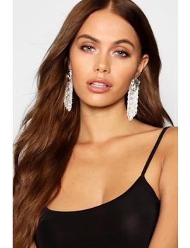 Cheetah Head Detail Chain Tassel Earrings by Boohoo