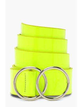 Neon Double Ring Belt by Boohoo