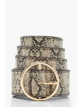 Faux Python Ring Belt by Boohoo