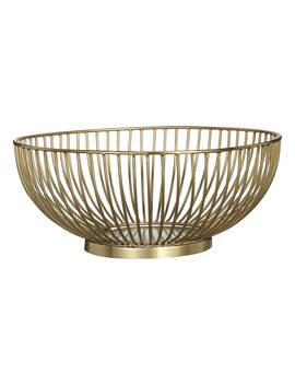 John Lewis & Partners Wire Serving Bowl, Dia.25cm, Gold by John Lewis & Partners