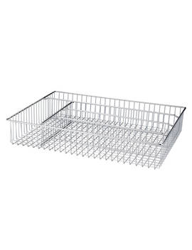 John Lewis & Partners Cutlery Tray, Large, Chrome by John Lewis & Partners