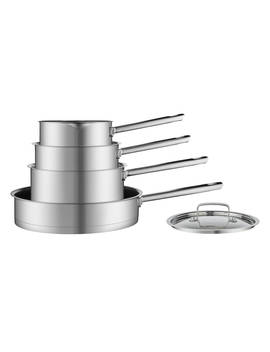 House By John Lewis Stainless Steel Pan Set, 4 Pieces by House By John Lewis