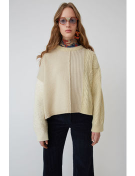 Textured Sweater White/Ecru by Acne Studios